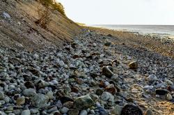 Pebbles on a sea shore, Sweden