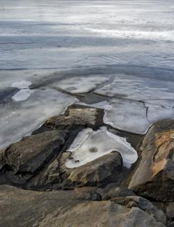 Spring ice on Lake, Sweden