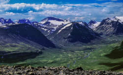 From Duopmacohkka towards west, Kebnekaise mountains