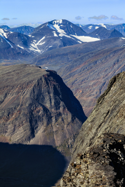 From Sielmacohkka towards north, Kebnekaise mountains
