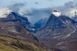 Duolbagorni right, and Singicohkka left, Kebnekaise mountains