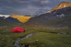 Camp in Sarvesvagge, Sarek