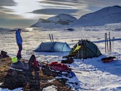 Winter camp below Helags, Sweden