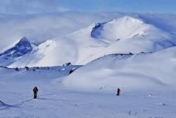 Skiing in Sarek