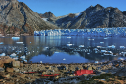 Camp in East Greenland