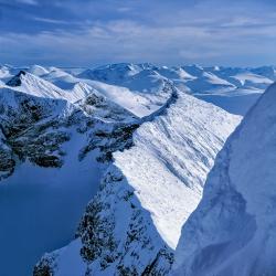 Sarektjåhkkå South Peak from Main Peak