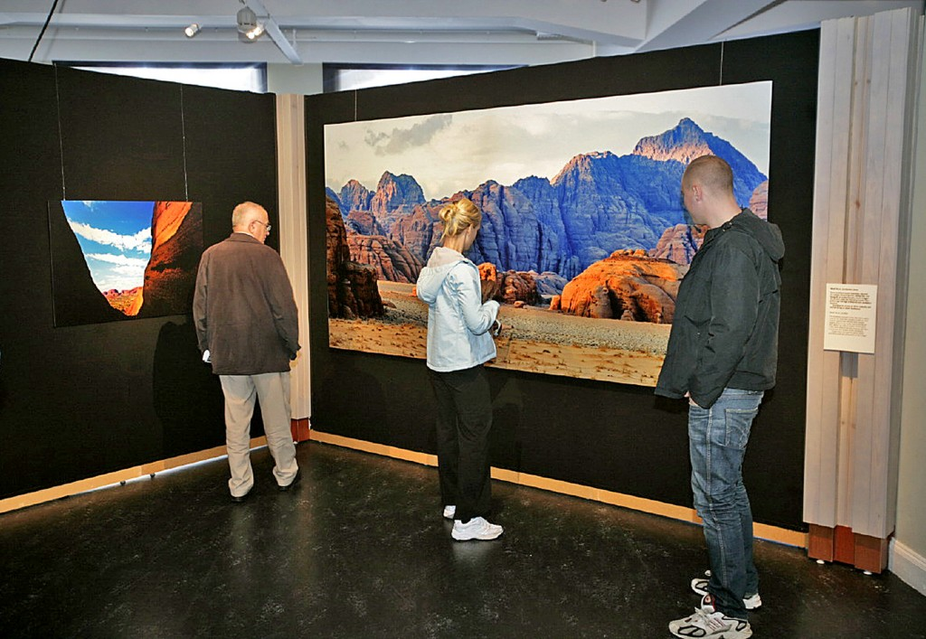 400 kvadratmeter med bergsbilder på Riksmuséet.